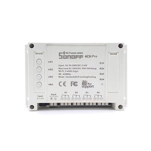 Sonoff 4CH Pro R2 WiFi Smart Switch interlock/self-locking/inching RF 433.92MHz