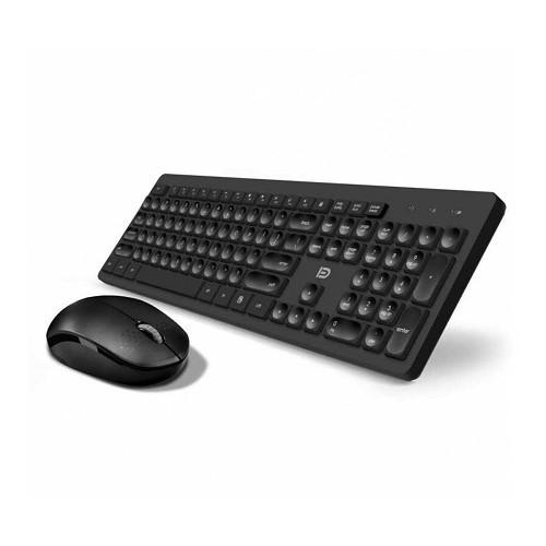 Combo: keyboard Wireless 2.4GHz Radio + optical mouse (DPI: 1600)