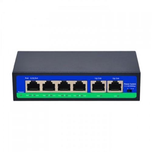 PoE switch 4ch 100Mbps +2G uplink