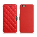 Quilted microfiber leather case, red (iPhone 6/6s)