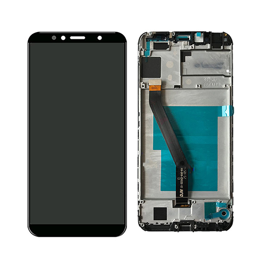 Screen LCD Huawei Y6 2018 (black) ( service pack: with frame and battery) ORG